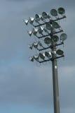 Stadium lights vertical. Shot of stadium lights vertical Royalty Free Stock Images
