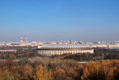 Stadium Luzhniki in Moscow. In Russia. Autumn look Royalty Free Stock Photography