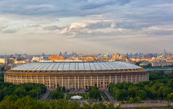 Stadium Luzniki at Moscow Royalty Free Stock Photography