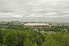 Stadium Luzniki at Moscow, Russia Royalty Free Stock Photos