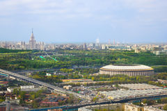Stadium Luzniki and University at Moscow, Russia Royalty Free Stock Images