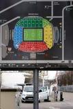 Stadium mapy Mercedes-Benz arena Stuttgart Obrazy Royalty Free