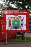 Stadium mapy Opel arena Mainz Obrazy Royalty Free