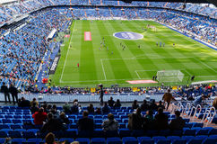 Stadium before the match. MADRID, SPAIN - APRIL 18: Santiago Bernabeu Stadium before the match on April 18, 2015 in Madrid, Spain. Real Madrid C.F. was born in stock photo