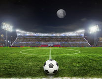 Stadium before the match Stock Photo
