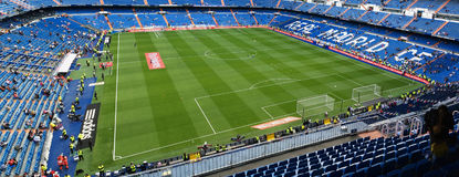 Stadium before the match. Real madrid. Santiago Bernabeu Stadium before the match on April 29, 2015 in Madrid, Spain. Real Madrid C.F. was born in the year 1902 stock photography