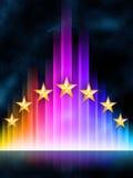 Stadium met sterren Stock Afbeeldingen