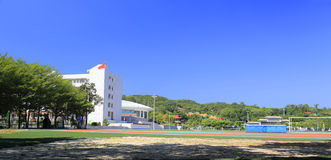 Stadium of  middle school. Landscape of the famous tongan middle school of xiamen city,china Royalty Free Stock Photos