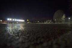 Stadium mit AbendSportanlage Stockfotografie