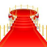Stadium mit rotem Teppich vektor abbildung