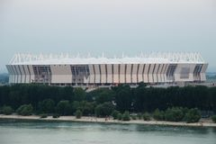Free Stadium Mundial 2018 Construction. Postov-on-Don, 7 February 2017. The Left Bank Of The Don River Stock Photos - 105633153