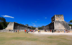 The stadium near chichen itza temple Royalty Free Stock Images