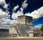 The stadium near chichen itza temple Royalty Free Stock Photos