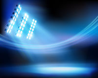 Stadium night. Vector illustration. Royalty Free Stock Images