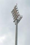 Stadium nocturne. Pole on a blue sky Royalty Free Stock Photos