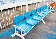 Stadium old seats Royalty Free Stock Image