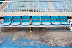 Stadium old seats Royalty Free Stock Images