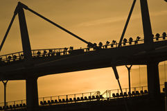 stadium olimpijski zmierzch Turin Fotografia Stock