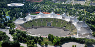 Stadium of the Olympiapark in Munich Royalty Free Stock Photos