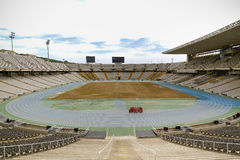 Stadium of olympic games. Of Barcelona Royalty Free Stock Images