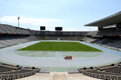 Stadium of olympic games of Barcelona. Stock Photography
