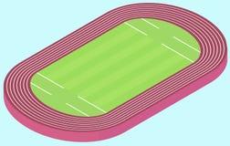 Stadium for olympic games flat image Stock Photo