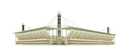 Stadium over white Royalty Free Stock Image