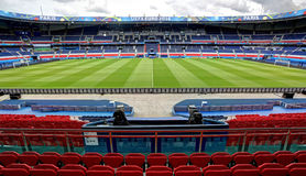 Stadium Parc des Princes, Paris. France. Field of play without players and public Stock Photography