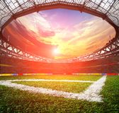 Stadium with peole the night before the game Stock Photography