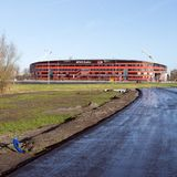 Stadium piłkarski az Alkmaar w holandiach fotografia stock