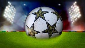 Stadium piłkarski dla tła Zdjęcie Royalty Free