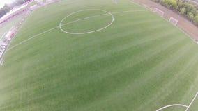 Stadium piłkarski, widok z lotu ptaka zdjęcie wideo
