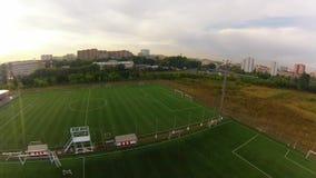 Stadium piłkarski, widok z lotu ptaka zbiory