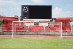 Stadium piłkarski wirh duży DOWODZONY ekran obraz stock
