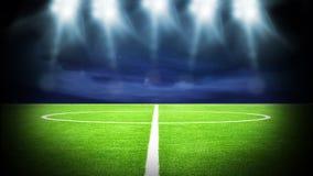 Stadium piłkarski noc Obrazy Stock