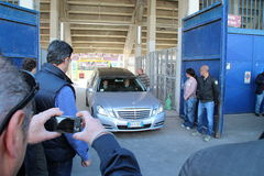 Stadium Picchi in Livorno corpse Morosini Royalty Free Stock Images