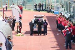 Stadium Picchi in Livorno corpse Morosini Royalty Free Stock Photography