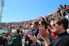 Stadium Picchi in Livorno corpse Morosini Stock Images