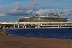 Stadium Piter Arena in St. Petersburg, Russia Stock Photos
