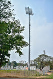 Stadium post. On the side of football field Royalty Free Stock Photos