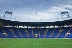 Stadium przed futbolowym dopasowaniem Obrazy Royalty Free