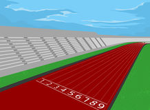 Stadium and racetrack Stock Images