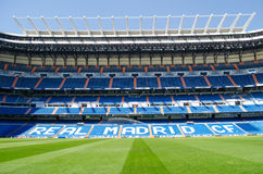 Stadium of Real Madrid Santiago Bernabeu. Royalty Free Stock Images
