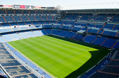 Stadium of Real Madrid Santiago Bernabeu. Stock Photos