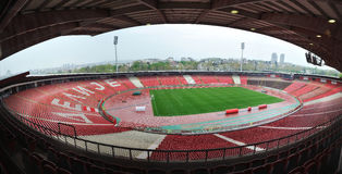 Stadium of Red Star Belgrade football club royalty free stock image
