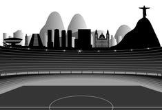 Stadium With Rio Skyline On The Horizon Stock Photo