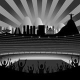 Stadium With Rio Skyline On The Horizon Royalty Free Stock Images