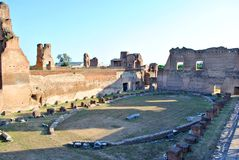 Stadium in the Roman Forum Royalty Free Stock Photography