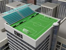 Stadium on the roof. Royalty Free Stock Photography