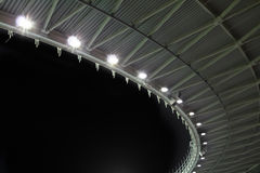 Stadium roof at night Stock Image